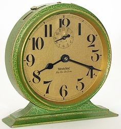 Vintage Westclox Big Ben Wind Up Manual Alarm Clock Glow