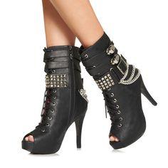 Abbey Dawn Skulls and Chain MFP Boot New | eBay