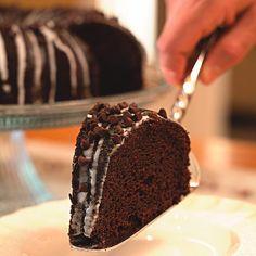 Glazed Chrocolate-Pumpkin Bundt Caket - recipe on Better Eats