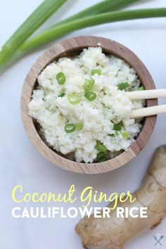 Simple, easy, and full of flavor. Coconut ginger cauliflower rice is Whole30 compliant and vegan. It's the perfect low-carb alternative to traditional rice with a little spin!