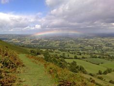 The view from Offa's Dyke down to Longtown Longtown (Tina Kenny) Wales