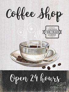 Painting - Retro Coffee Shop 1 by Debbie DeWitt