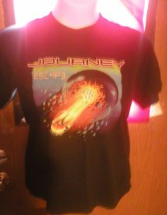 Journey t shirt Escape Size M School Themes, Thrifting, Journey, Wicked, T Shirt, Stains, Board, Pictures, Ebay