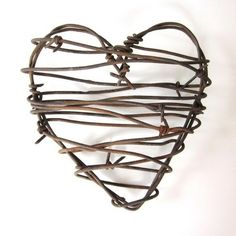 Image detail for -Barbed Wire Valentine Heart I'm going to try to make this! by iris ...