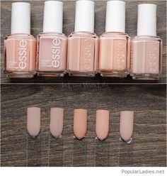 Awesome nude nail polishes on matte