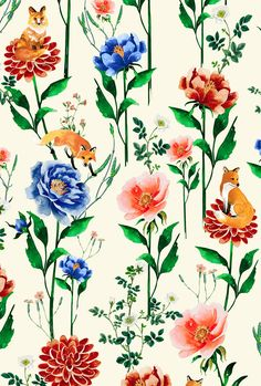 Estampas Coleção   Além do Labirinto   Antix on Behance Colourful Living Room, Birth Flowers, Tropical Pattern, Gold Art, Flower Pictures, Botanical Prints, Floral Flowers, Pattern Wallpaper, Flower Prints