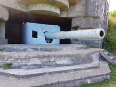 Atlantikwall Regelbau Artillery Casemate, Bunker with Embrasured emplacement for 17 cm gun