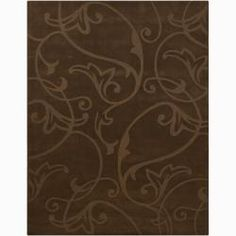@Overstock - Embellished with a gracefully swirling vine design, this beautiful hand-tufted Mandara wool area rug is a soft cocoa brown. Featuring thick, soft pile that feels marvelous underfoot, this contemporary floral area rug is perfect for home or office.http://www.overstock.com/Home-Garden/Hand-tufted-Mandara-Brown-Wool-Rug-6-x-9/6749578/product.html?CID=214117 $292.99
