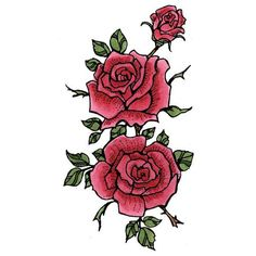 8880 - Rose Trio Rubber Stamp - Sku: G454
