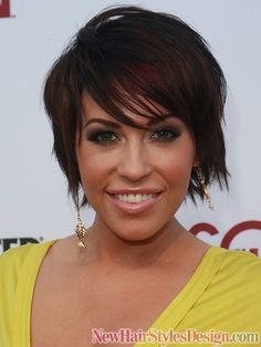 Short Hairstyles with Bangs 2011 @Amber Brillhart, she looks like you...