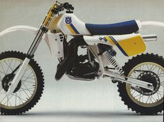 Love the design of this 1984 Husqvarna 250 CR, classic Swedish styling.