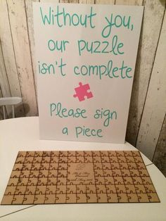 Personalised Wooden Jigsaw Puzzle Guest Book by LOVEANDGLITTER1984