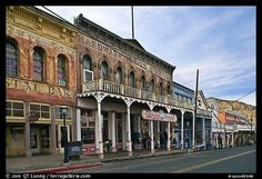 One of the best places to visit in this entire country is Virginia City, Nevada. Once the center of the Comstock Mining District, it now serves as a major tourist town. A lot of it has been preserved.