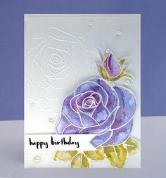 Watercolor Rose use manhattan flower ef