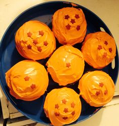 Dragon ball cupcakes for Jakes birthday! But better looking