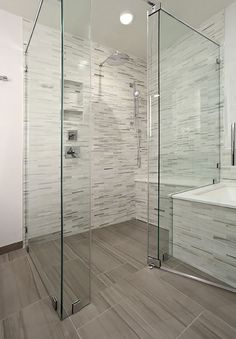 Curbless Shower, not the tiles. Just the curbless concept