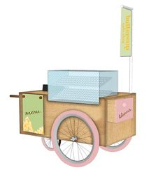 Cupcake cart for Buttercup Cake Shop via Design Clarity