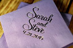 Napkins / Completely Custom / Personalized / Monogrammed Napkins!! ANY EVENT…