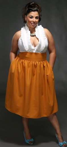 JIBRI Plus Size High Waist Flare Skirt by jibrionline on Etsy, $110.00