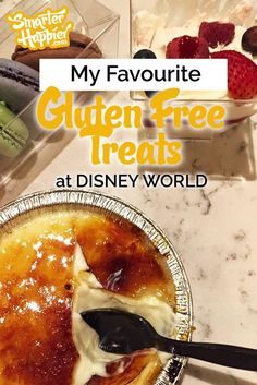 I'm going to make this short and sweet (mmmm. Here are my favourite Disney World gluten free treats - in no particular order. Gluten Free Disney World, Disney World Food, Walt Disney World Vacations, Disney Trips, Family Vacations, Family Travel, Disney Travel, Disney Cruise, Disney Honeymoon