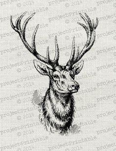 ... deer with antlers stag deer antlers deer fabrics vintage cushions