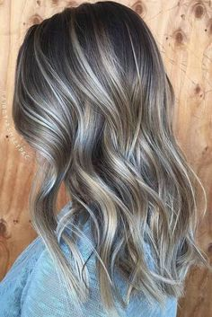 40 Ash Blonde Hair Looks You'll Swoon Over - 40 Ash Blonde Hair Looks You'll Swoon Over Ash Blonde And Platinum Balayage For Brunettes Ash Blonde Highlights, Balayage Hair Blonde, Dark Blonde, From Brunette To Blonde, Blonde With Brown Lowlights, Brown Hair With Silver Highlights, Soft Balayage, Chunky Highlights, Light Highlights