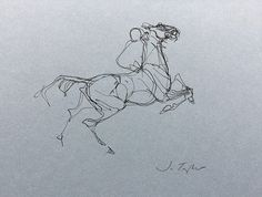 "The Horse Thief 8"" x 10"", Ink - Jo Taylor #art Gallery - http://www.jotaylorart.com/gallery"