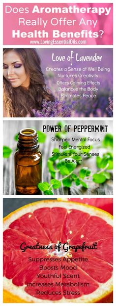 Aromatherapy can offer amazing benefits, find out some that you can enjoy with lavender, grapefruit and peppermint. #lavender #peppermint #grapefruit #essentialoils #aromatherapy