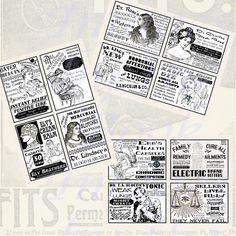 Images,Digital,Stickers,Collage,Illustration,quack,patent,medicine,advertisements,victorian,labels,postcard