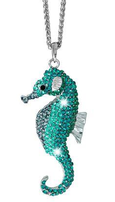 Kette - Blue Seahorse - Bijou Brigitte Online-Shop