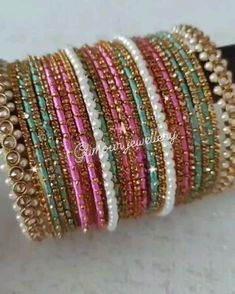 Silk Thread Bangles Design, Silk Bangles, Gold Bangles Design, Bridal Bangles, Indian Bangles, Jewelry Design Earrings, Fashion Earrings, Indian Bridal Jewelry Sets, Fancy Jewellery