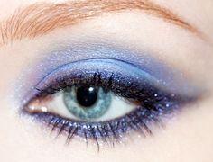 Lime Crime Twilight Loose Shadow. Blue Eyed girls CAN wear blue eyeshadows!