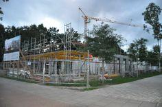 Hier wird mit der Einschallung der Unterzüge für die Erdgeschoss-Decke begonnen.