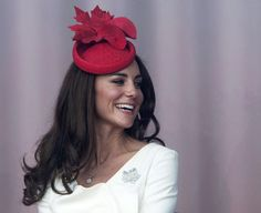 the Duchess of Cambridge with her Canadian Maple leaf hat, always classy