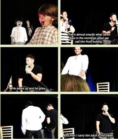 [GIFSET] Jared is just like Thomas, according to Jensen ;)