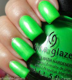 China Glaze Nail Polish Afterglow 1 for sale online China Glaze Neon, China Glaze Nail Polish, Hair And Nails, Lifeguard, Nail Designs, Nail Ideas, Girly, Makeup, Colors