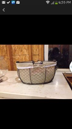 Found two of these baskets on Varagesale....at 90% off retail price. Yes!