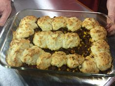 Taco Beef Bake with Cheddar Biscuit Topping Monday, February 9, 2015