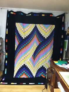The borders made this quilt! 3d Quilts, Quilt Border, Blanket, Unique, Crafts, Beautiful, Color, Design, Art