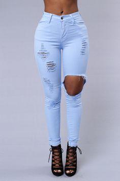 Glistening Jeans - Baby Blue