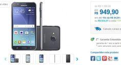 "Samsung Galaxy J7 Duos 16GB Preto Dual Chip 4G Câm 13MP  Selfie 5MP Flash Tela 5.5"" << R$ 85491 >>"