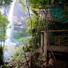 Designed for the Department of Conservation, this shelter has a spectacular view of the Bridal Veil waterfall. Conservation, Wilderness, Veil, Shelter, Waterfall, Public, Culture, Bridal, History