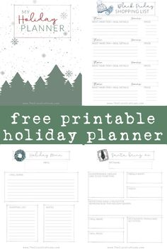 FREE Printable Holiday Planner - Christmas 2019 - The Crazy Craft Lady Hygge Christmas, Christmas Art, Christmas 2019, Christmas Ideas, Free Christmas Printables, Free Printables, Holiday Planner, Menu Planners, Printable Planner