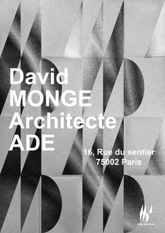 Final work for MDA Architecte ADE — Indentity & logo design 2A1V Creative Studio — Edition 2017