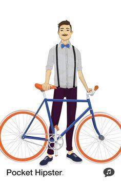 bike with a bowtie