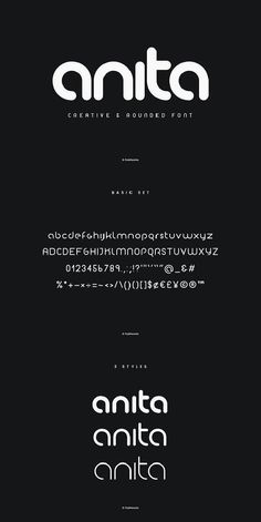 fonts font ideas font inspiration font typogr - Fonts - Ideas of Fonts - Anita PW Geometric Rounded Font. Calligraphy Fonts, Typography Letters, Free Typography Fonts, Font Alphabet, Font Free, Typography Layout, Vintage Typography, Typography Quotes, Typography Poster