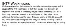 INTP Weaknesses