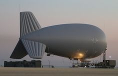 French SYDEREC system aerostats used to communicate with SSBNs strategic oceanic force via wire antennas.