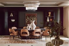 Great British Brands by Country & Town House: Elicyon, celebrating five years of delivering great British interior design. Interior Design Studio, Luxury Interior Design, Interior Design Inspiration, Interior Ideas, Luxury Dining Room, Dining Rooms, Dining Table, Small Chest Of Drawers, Curved Sofa