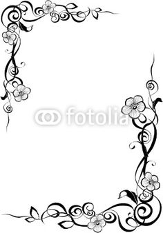 Pencil Art Drawings, Doodle Drawings, Page Boarders, Calligraphy Borders, Rose Outline, Boarder Designs, Doodle Frames, Nature Drawing, Beautiful Nature Wallpaper